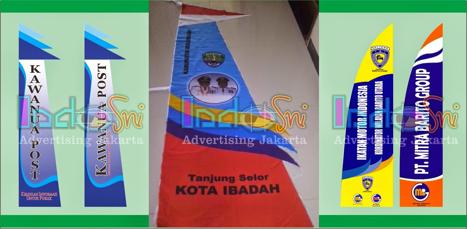 Umbul Umbul Kain Digital Printing Jakarta