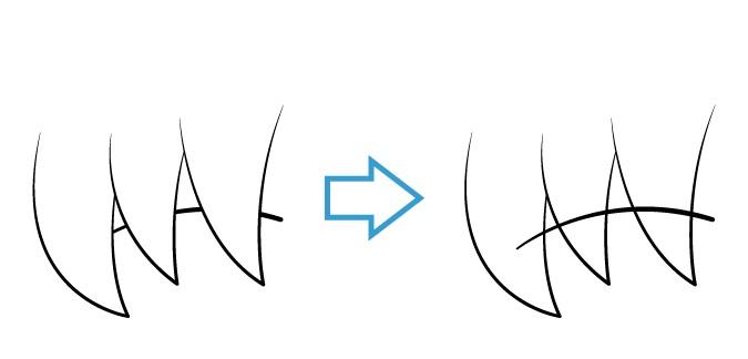 Anime eyebrow comparison