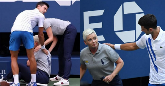 Djokovic Disqualified From Us Open After Striking Line Judge With Ball Video