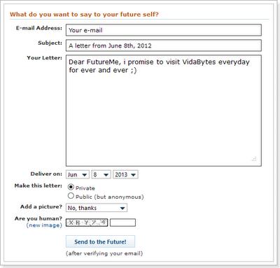 FutureMe, enviar mails programados
