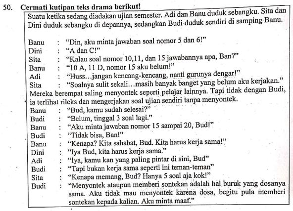 Contoh Soal Ulasan Teks Drama Dan Pembahasan Soal Un 2019 Zuhri Indonesia