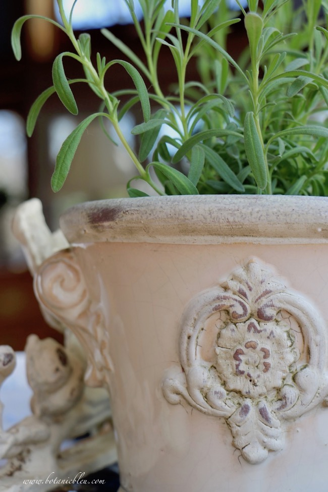 french country white ceramic flower urn
