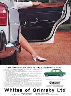 Triumph 1300 advert by Whites of Grimsby Ltd
