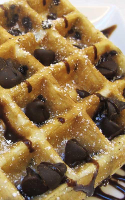 cchip_wafflesN, chocolate chip belgian waffles, chocolate belgian waffles, chocolate, chip, belgian, waffles,butter, chocolate chips, Eggs, flour, sugar, Vanilla