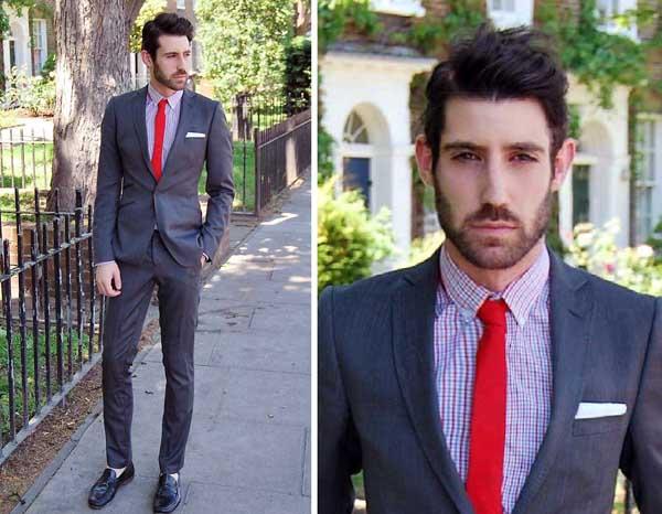 Camisa Xadrez com Terno de corte mais ajustado (Slim Fit), quebrou um pouco  a formalidade do visual, gostei! a29d9f5039