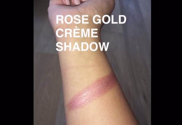 Kylie Cosmetics Birthday Edition Rose Gold Crème Shadow Swatch
