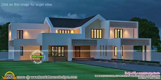 Fabulous contemporary home - Kerala home design and floor ... - photo#9