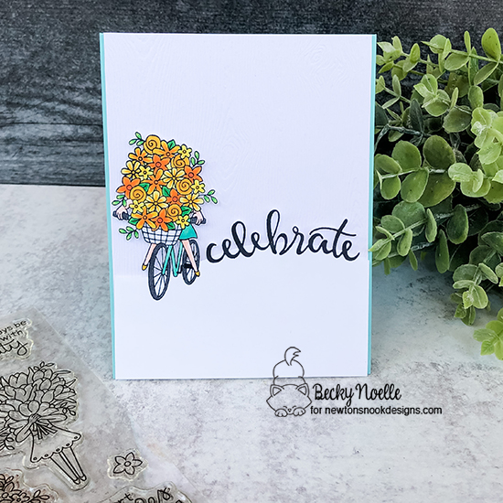 Celebrate by Becky features Birthday Essentials and Loads of Blooms by Newton's Nook Designs; #newtonsnook