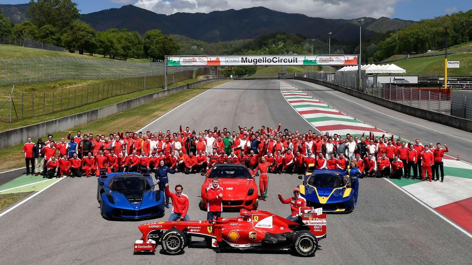 Rất nhiều chủ xe Ferrari ở Châu Âu đã đến tham dự Ferrari Corse Clienti