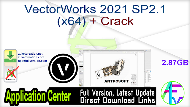 VectorWorks 2021 SP2.1 (x64) + Crack