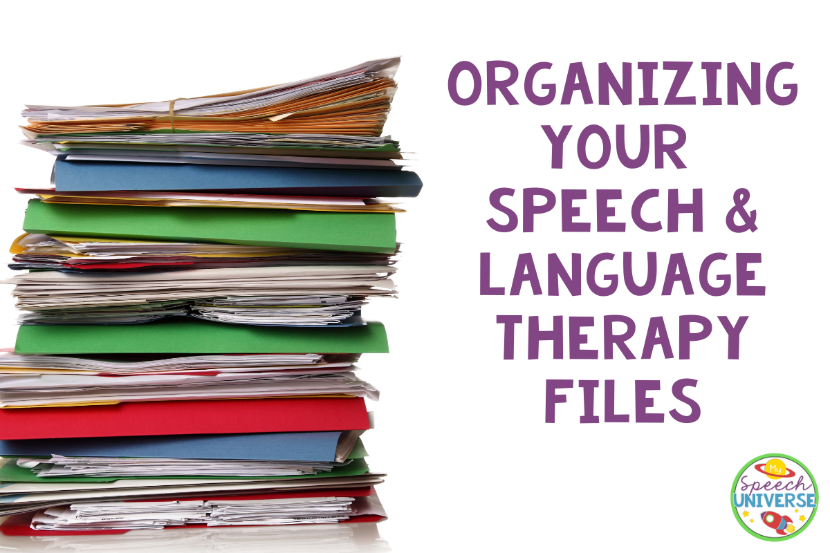 Organizing speech and language files
