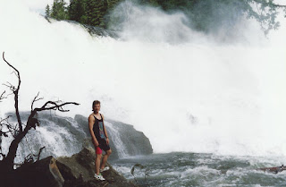 Kelly at Sylvia Falls on the Mahood River - the furthest part of our journey