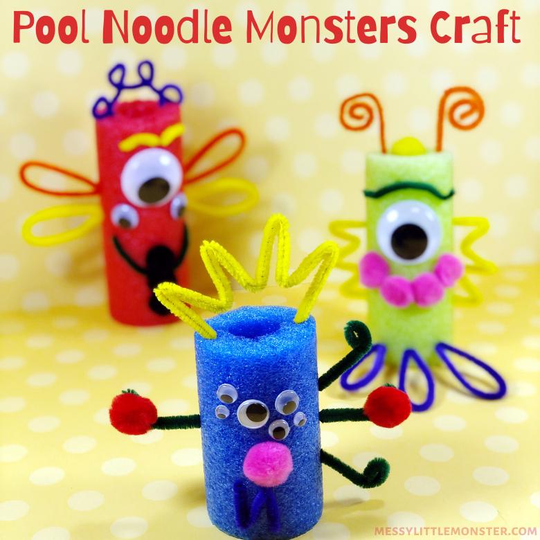 Pool noodle monster crafts