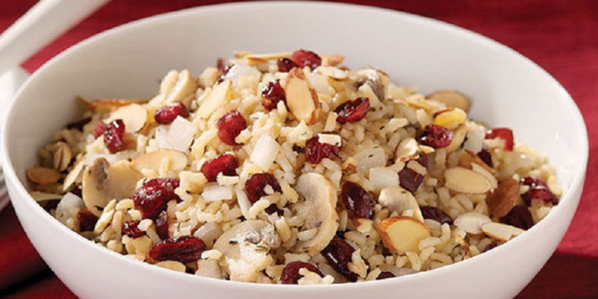 Rice Pilaf with Cranberries and Almonds