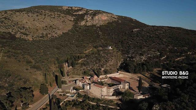 Αγία Μονή: Το ιστορικό Βυζαντινό μοναστήρι στο Ναύπλιο από ψηλά (βίντεο drone)