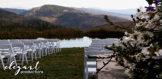 Ceremony site, Granby wedding videography, mountain weddings