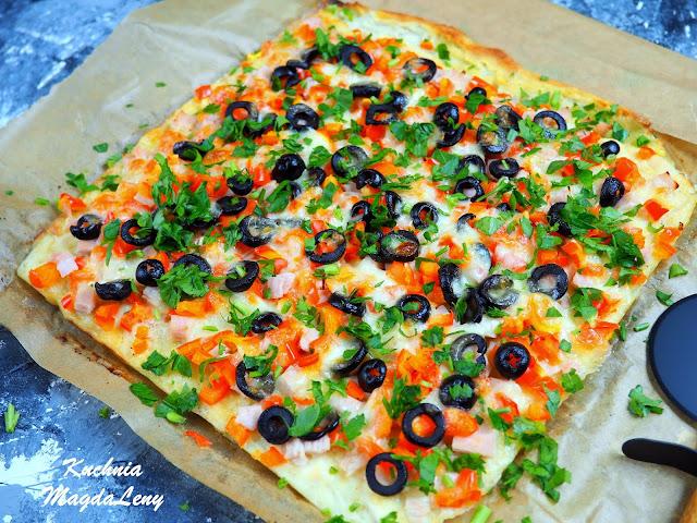 Siekany kurczak a'la pizza