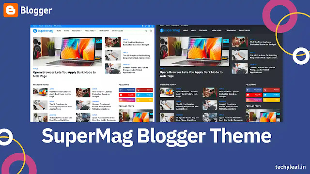 Supermag premium Blogger theme download
