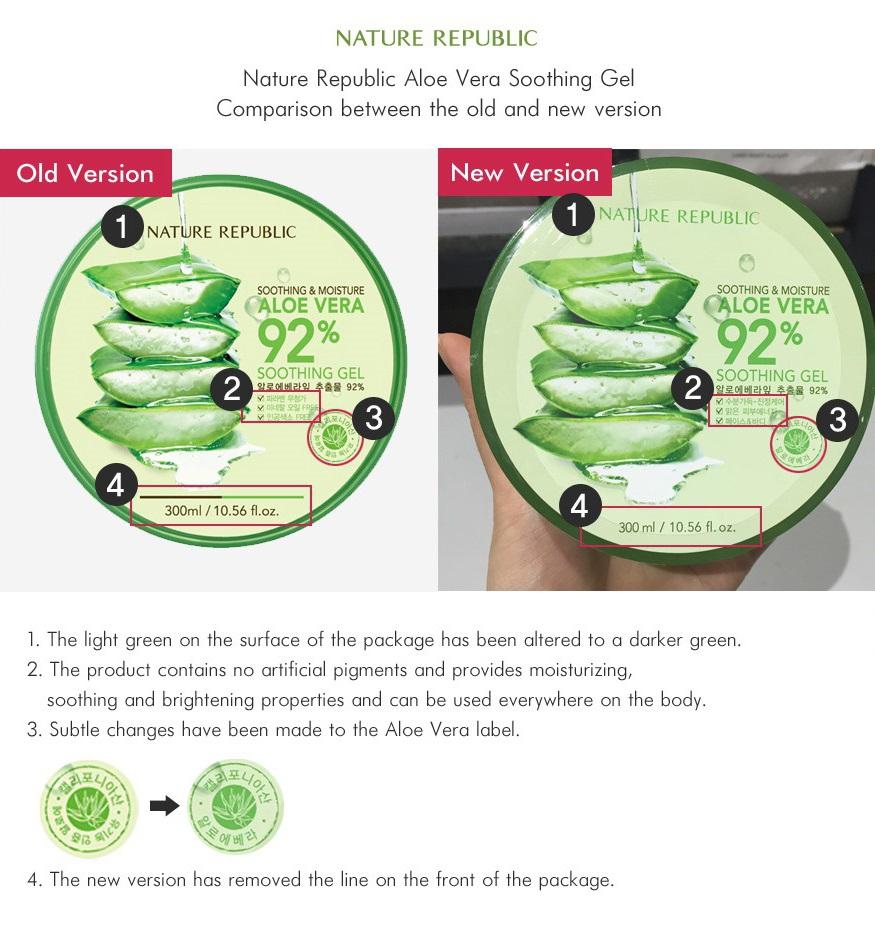 Perbedaan Nature Aloe Vera Kemasan Lama VS Baru