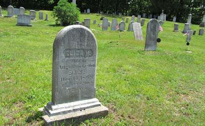 Photograph of Eliza Gowen gravestone