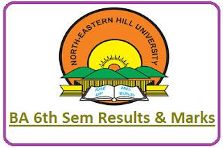 NEHU BA 6th Semester Result 2021