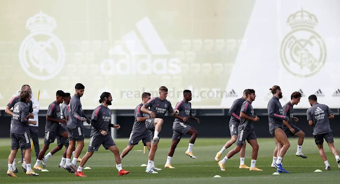 Pictures: Real Madrid star returns to group training ahead of Real Betis game