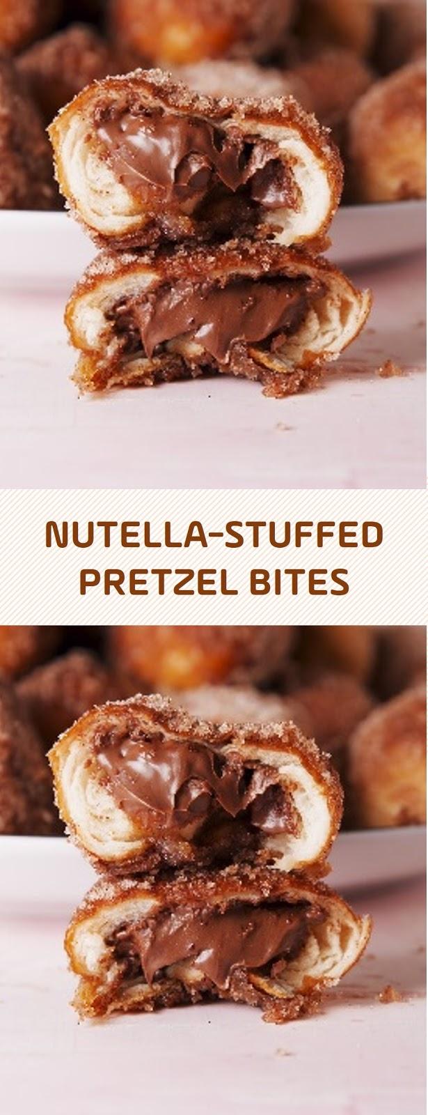 Nutella-Stuffed Pretzel Bites