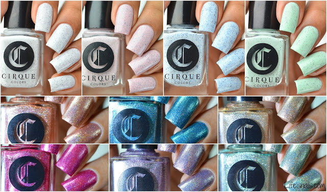 Cirque colors Speckled and sparkled collection