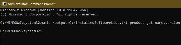 كيفية الحصول على قائمة بجميع البرامج المثبتة على نظام Windows Cmd