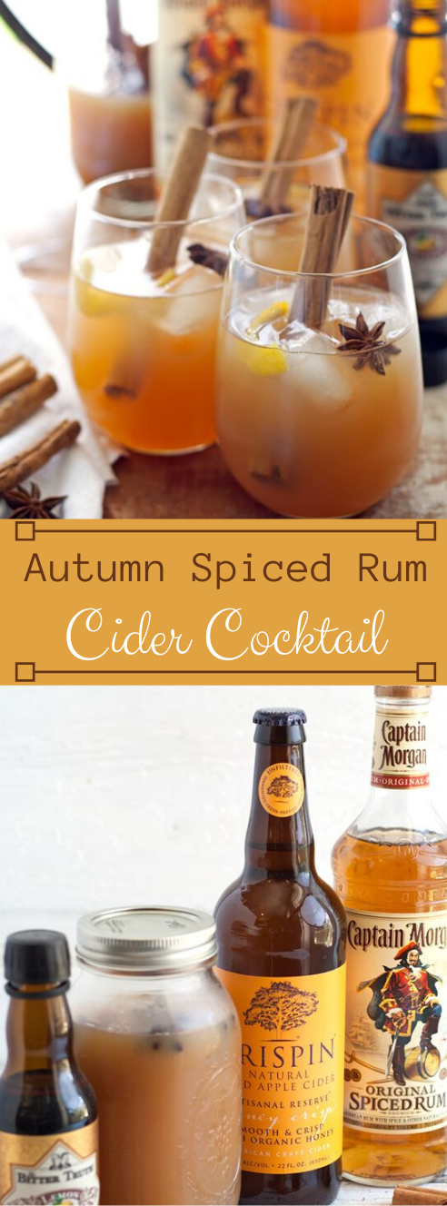 AUTUMN SPICED RUM CIDER COCKTAIL #cocktail #healthydrink #party #recipes #sangria