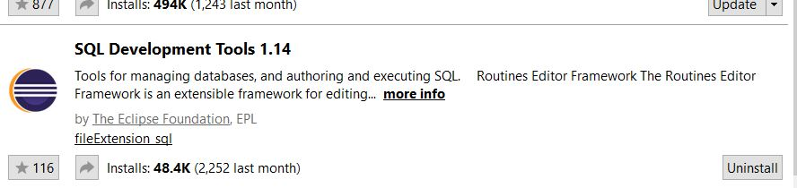 SOLVED] SQL file not opening in STS  No internal editor