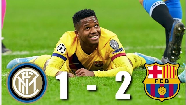 Inter 1 - 2 Barcelona champions league highlight