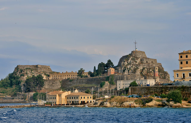 Old Fort. View from the sea to the north. Kerkira. Corfu. Greece. Старая крепость. Вид с севера с моря. Керкира. Корфу. Греция.
