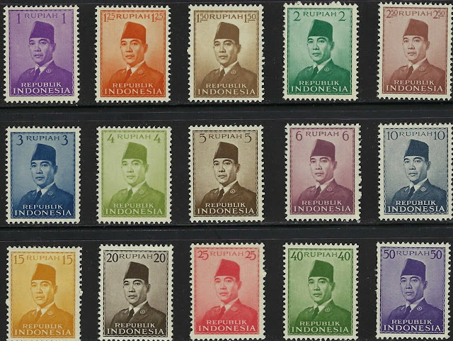 Indonesia 1953 Sukarno set