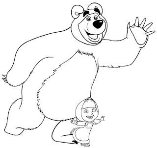 מאשה והדוב לצביעה