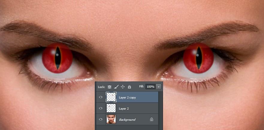 efek mata photoshop, mengubah bola mata, tutorial efek photoshop