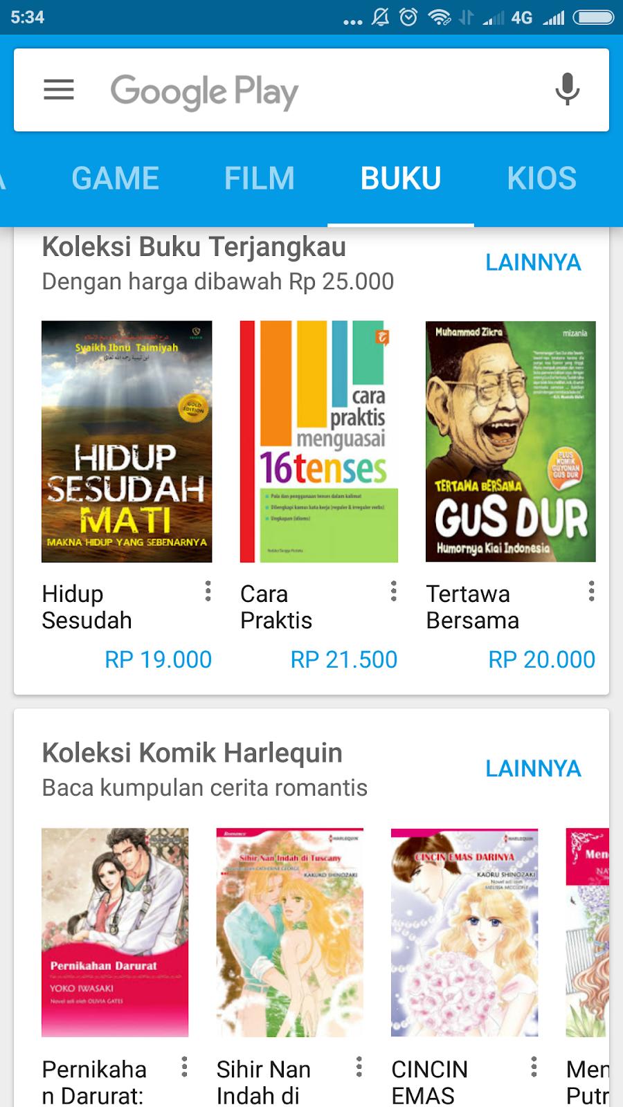 Cara Gratis Buku Berbayar Di Google Play Book