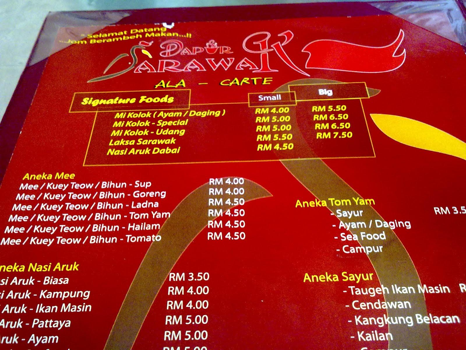 Antara Yang Special Or Signature Foods Ialah Laksa Sarawak Mee Kolok Dan Nasi Aruk Dabai