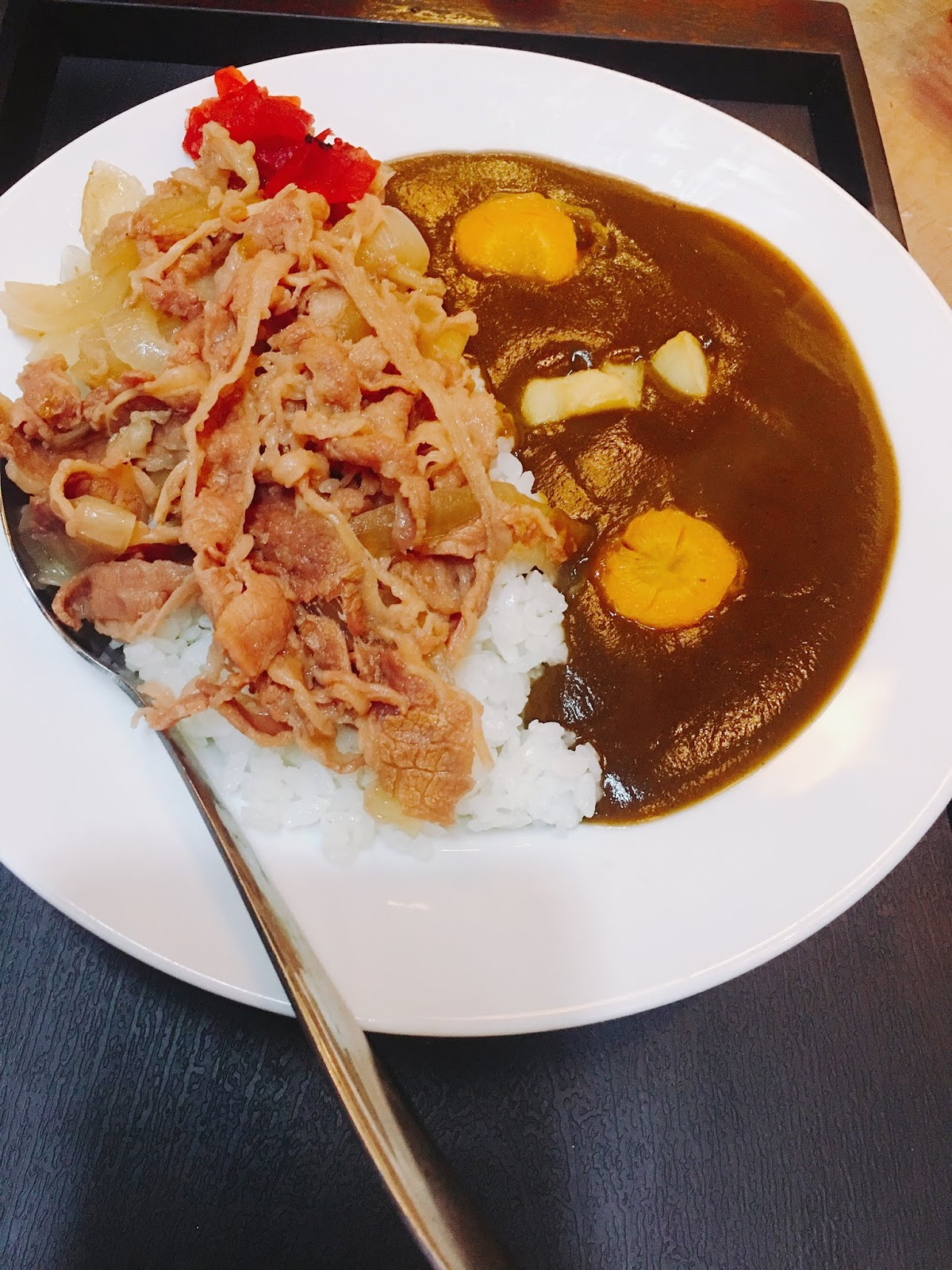 Curry with Gyudon