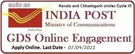 Kerala Chhattisgarh Gramin Dak Sevak Recruitment 2021