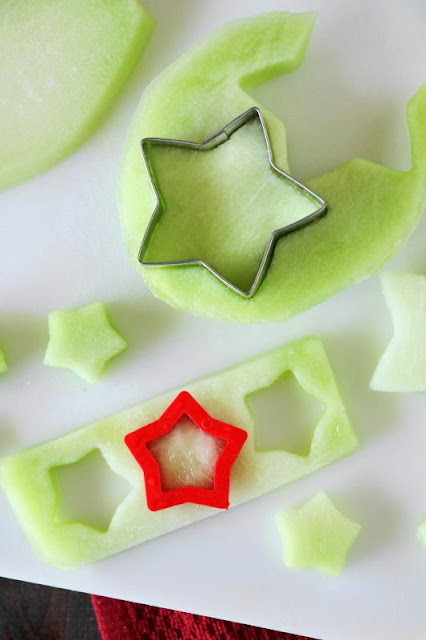 Honeydew Fruit Stars Image for the 4th of July