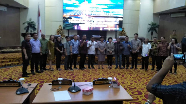 AKD terbentuk , ini daftar nama pembentukan personil komisi DPRD Kota Manado