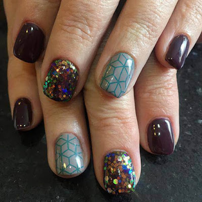 French Colorful ,Mylar Nails Art, Ideas For 2017