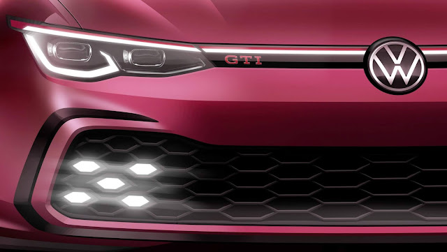Novo VW Golf GTI Mk8 2020: 1ª foto oficial divulgada
