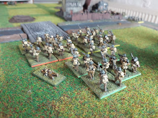 British infantry prepare to assault Catillon
