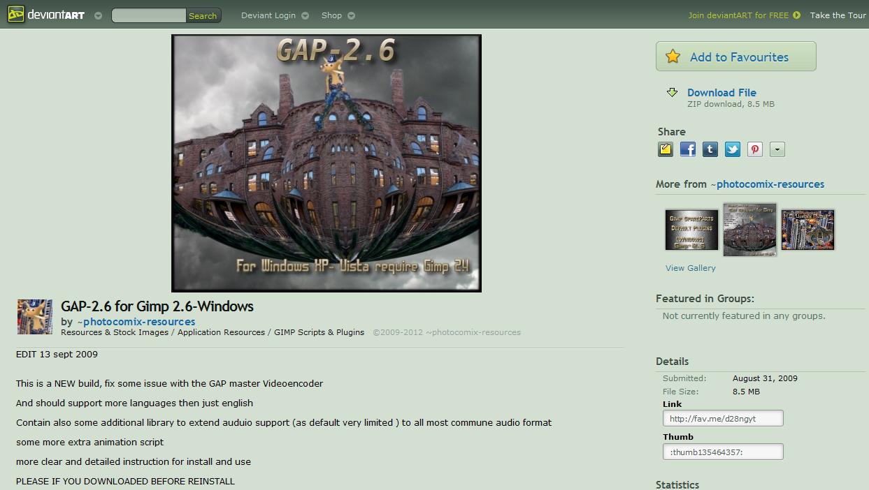 Andrew Bonnington's blog: Installing GAP for Gimp 2 8 on Windows