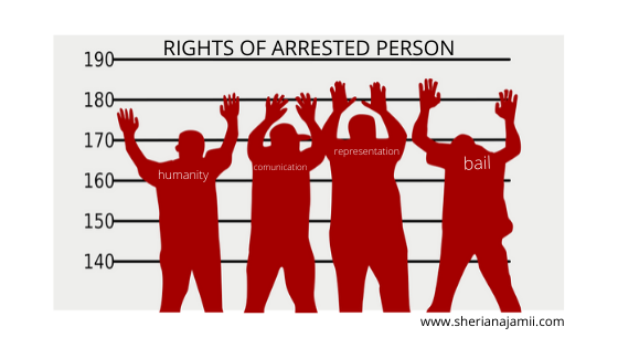 What are the Rights of Arrested person?