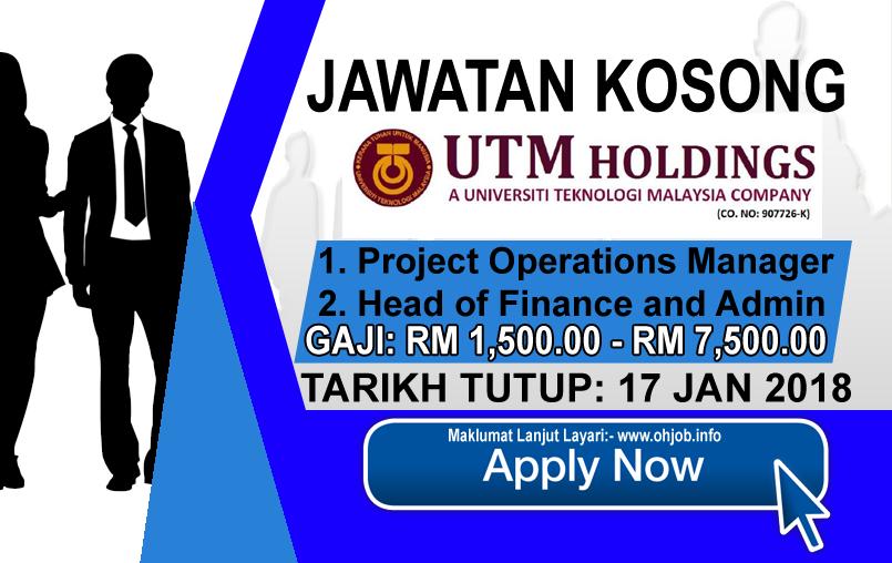 Jawatan Kerja Kosong UTM Holdings logo www.ohjob.info januari 2018