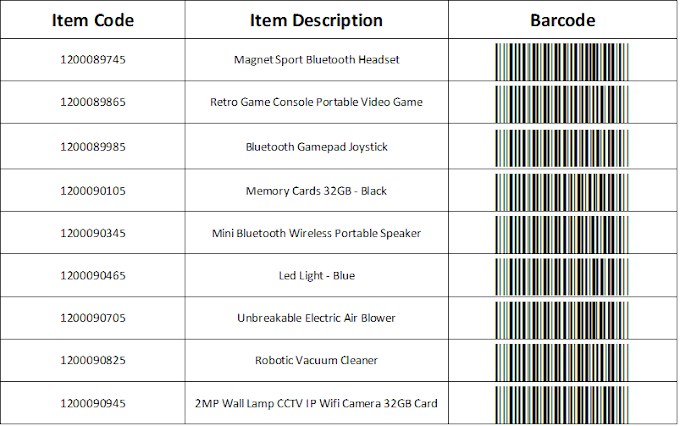 Install Barcode Font and Generate Barcode In Excel