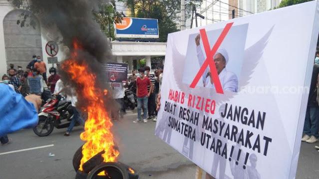 Demo Menolak Kedatangan HRS di Medan, GNPF Sumut: Gerakan New PKI